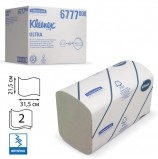 Полотенца бумажные 124 шт., KIMBERLY-CLARK Kleenex, КОМПЛЕКТ 30 шт., Ultra, 2-слойные, бел., 31,5х21,5 см, Interfold, 601533-534, 6777