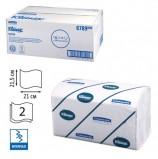 Полотенца бумажные 186 шт., KIMBERLY-CLARK Kleenex, КОМПЛЕКТ 15 шт., Ultra, 2-х слойные, белые, 21х21,5см, Interfold, 601533-534, 6789