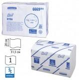 Полотенца бумажные 240 шт., KIMBERLY-CLARK Scott, КОМПЛЕКТ 15 шт., Xtra, белые, 31,5х20 см, Interfold, диспенсер 601533, 6669