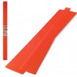 Цветная бумага крепированная плотная, растяжение до 45%, 32 г/м2, BRAUBERG, рулон, оранжевая, 50х250 см, 126530