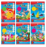 Цветной картон, А4, тонированный в массе, 7 цветов, 200 г/м2, АППЛИКА, 205х290 мм, С1791