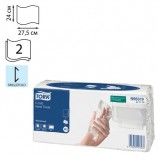 Полотенце бумажное КОМПЛЕКТ 120 шт., TORK (Система H3) Advanced, 2-слойное, белый, 24х27,5, Singlefold, 471114