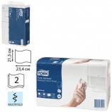 Полотенце бумажное КОМПЛЕКТ 190 шт., TORK (Система H2) Universal, 2-слойное, натуральный, 23,4х21,3 см, Multifold, 471103