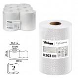 Полотенца бумажные рулонные VEIRO Professional (Система H1), КОМПЛЕКТ 6 шт., Comfort, 160 м, 2-слойные, белые, K203