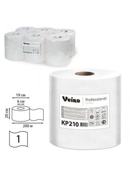 Полотенца бумажные с центральной вытяжкой VEIRO (Система M2), КОМПЛЕКТ 6 шт., Comfort, 200 м, белые, КР210