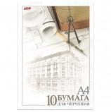Папка для черчения HATBER, А4, 210х295 мм, 10 л., без рамки, 190 г/м2, 'Архитектура', 10Бч4A 11033, А111253