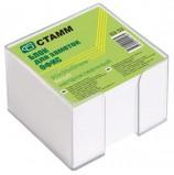 Блок для записей СТАММ 'Офис' в подставке прозрачной, куб 9х9х5 см, белый, белизна 90-92%, БЗ 53