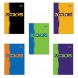 Блокнот А7, 48 л., склейка, 3-х цветный блок, HATBER, '2COLORS', 65х100 мм, 48Б7В1к, B197547