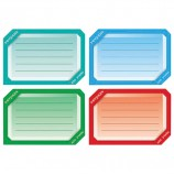 Наклейка для тетрадей, HATBER, европодвес, комплект 16 шт., 'Цветная', 165х200 мм, Накл 14729, O181843