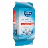 Салфетки влажные, 72 шт., AURA 'Family', антибактериальные, для всей семьи, 7044