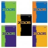 Блокнот А6, 80 л., гребень, обложка мелованный картон, HATBER, '2COLORS', 105х140 мм, 80Б6Вгр, B204689