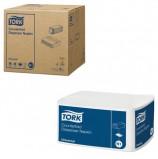 Салфетки TORK (Система N1) Counterfold, комплект 16 шт., 33х30 см, 250 шт., белые, 10905