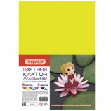 Картон цветной А4 МЕЛОВАННЫЙ, 8 листов 8 цветов, в пакете, ПИФАГОР, 200х283 мм, 'Дюймовочка', 128013