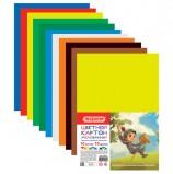Картон цветной А4 МЕЛОВАННЫЙ, 10 листов 10 цветов, в пакете, ПИФАГОР, 200х290 мм, 'Маленький рыцарь', 128016