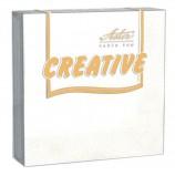 Салфетки бумажные, 20 шт., 24х24 см, 3-х слойные, ASTER 'Creative', белые, 100% целлюлоза, арт. 00998/15