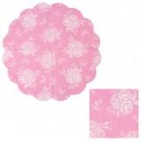 Салфетки бумажные круглые, 12 шт., диаметр 32 см, 3-х слойные, ASTER 'Creative round', розовый винтаж, AR251113