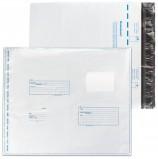 Конверт-пакеты полиэтиленовые (320х355 мм), до 500 листов, 'Куда-Кому', отрывная полоса, КОМПЛЕКТ 400 шт., 11006