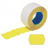 Этикет-лента 26х12 мм, волна, желтая, комплект 100 рулонов по 800 шт., STAFF, 128453
