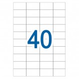 Этикетка самоклеящаяся 52,5х29,7 мм, 40 этикеток, белая, 65 г/м2, 50 л., STAFF, 128836