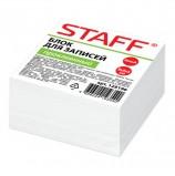 Блок для записей STAFF проклеенный, куб 9х9х5 см, белый, белизна 90-92%, 129196