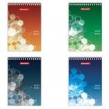 Блокнот, А6, 60 листов, гребень, клетка, BRAUBERG 'Спектр', 95х140 мм, 129826