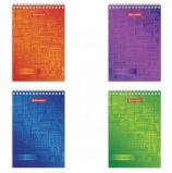 Блокнот, А6, 60 листов, гребень, клетка, BRAUBERG 'Старый город', 95х140 мм, 129828