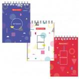 Блокнот, А7, 40 листов, гребень, клетка, BRAUBERG 'Креатив', 75х105 мм, 129854