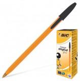 Ручка шариковая BIC 'Orange', ЧЕРНАЯ, корпус оранжевый, узел 0,8 мм, линия письма 0,3 мм, 8099231