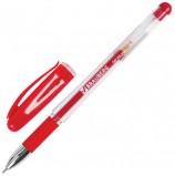 Ручка гелевая с грипом BRAUBERG 'Geller', КРАСНАЯ, игольчатый узел 0,5 мм, линия письма 0,35 мм, GP141