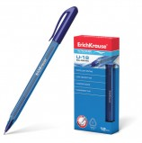 Ручка шариковая масляная ERICH KRAUSE 'Ultra Glide U-18', СИНЯЯ, узел 1 мм, линия письма 0,5 мм, 32534