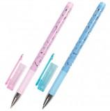 Ручка шариковая BRAUBERG 'Узоры', СИНЯЯ, корпус с печатью ассорти, узел 0,7 мм, линия письма 0,35 мм, BP139