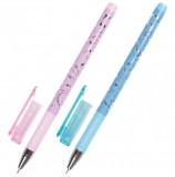 Ручка гелевая BRAUBERG 'Elegant', ЧЕРНАЯ, корпус ассорти, игольчатый узел 0,5 мм, линия письма 0,38 мм, GP148
