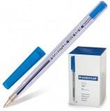 Ручка шариковая STAEDTLER 'Stick Document', СИНЯЯ, корпус прозрачный, узел 1,2 мм, линия письма 0,5 мм, 430 M 03