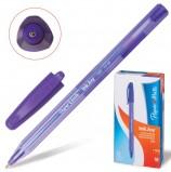 Ручка шариковая PAPER MATE 'Inkjoy 100', ФИОЛЕТОВАЯ, корпус тонированный фиолетовый, узел 1,2 мм, линия письма 1 мм, S0977330