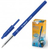 Ручка шариковая BEIFA (Бэйфа), СИНЯЯ, корпус синий, узел 0,7 мм, линия письма 0,5 мм, AA938D-BL