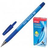 Ручка шариковая с грипом BEIFA (Бэйфа) 'A Plus', СИНЯЯ, корпус синий, узел 1 мм, линия письма 0,7 мм, KA124200CS-BL