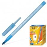 Ручка шариковая BIC 'Round Stic', СИНЯЯ, корпус голубой, узел 1 мм, линия письма 0,32 мм, 921403