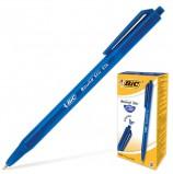 Ручка шариковая автоматическая BIC 'Round Stic Clic', СИНЯЯ, корпус тонированный синий, узел 1 мм, линия письма 0,32 мм, 926376