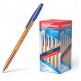 Ручка шариковая ERICH KRAUSE 'R-301 Amber', СИНЯЯ, корпус тонированный оранжевый, узел 0,7 мм, линия письма 0,35 мм, 31058