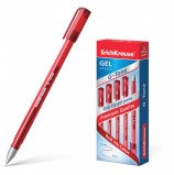 Ручка гелевая ERICH KRAUSE 'G-Tone', КРАСНАЯ, корпус тонированный красный, узел 0,5 мм, линия письма 0,4 мм, 17811