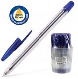 Ручка шариковая масляная СТАММ '111', СИНЯЯ, корпус прозрачный, узел 1,2 мм, линия письма 1 мм, РС21