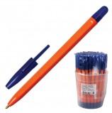 Ручка шариковая СТАММ '111', СИНЯЯ, корпус оранжевый, узел 1,2 мм, линия письма 1 мм, РС11