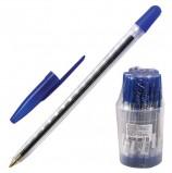 Ручка шариковая СТАММ '111', СИНЯЯ, корпус прозрачный, узел 1,2 мм, линия письма 1 мм, РС01