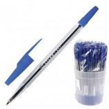 Ручка шариковая СТАММ '511', СИНЯЯ, корпус прозрачный, узел 1,2 мм, линия письма 1 мм, РК01