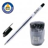 Ручка шариковая масляная СТАММ 'VeGa', ЧЕРНАЯ, корпус прозрачный, узел 1,2 мм, линия письма 0,7 мм, РШ108