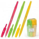Ручка шариковая СТАММ 'Тропик', СИНЯЯ, корпус ассорти, узел 1,2 мм, линия письма 1 мм, РШ10