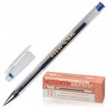 Ручка гелевая СОЮЗ 'Oskar', СИНЯЯ, корпус прозрачный, узел 0,7 мм, линия письма 0,4 мм, РГ 155-01