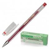 Ручка гелевая СОЮЗ 'Oskar', КРАСНАЯ, корпус прозрачный, узел 0,7 мм, линия письма 0,4 мм, РГ 155-03