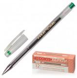 Ручка гелевая СОЮЗ 'Oskar', ЗЕЛЕНАЯ, корпус прозрачный, узел 0,7 мм, линия письма 0,4 мм, РГ 155-04