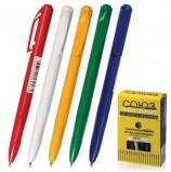 Ручка шариковая автоматическая СОЮЗ 'Клио', СИНЯЯ, корпус ассорти, узел 0,7 мм, линия письма 0,35 мм, РШ 133-01